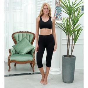 Brown Bamboo Capris